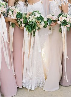Add some drama to your bouquets with strands of long, flowing ribbons.
