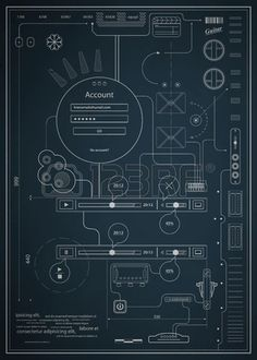Buy Blueprint infographics drawing a schematic abstrac by fet on GraphicRiver. blueprint infographics drawing a schematic abstraction. Text to curves. Schematic Design, Diagram Design, Graphic Design Typography, Graphic Design Art, Ui Design, Infographic Templates, Infographics, Technical Illustration, Concert Flyer