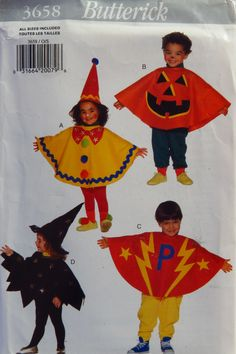 Butterick 3658 Toddlers' Costume