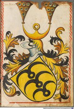 Scheibler'sches Wappenbuch Süddeutschland, um 1450 - 17. Jh. Cod.icon. 312 c  Folio 15