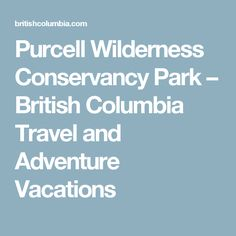 Purcell Wilderness Conservancy Park – British Columbia Travel and Adventure Vacations
