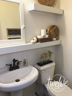 farmhouse bathroom updated!