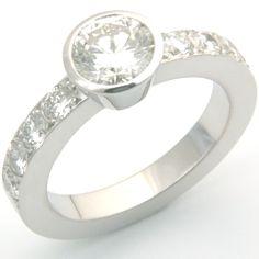 18ct White Gold Ring Using Customer's Diamonds, Form Bespoke Jewellers, Leeds  #handmade #bespoke #diamond #engagement #ring #Yorkshire