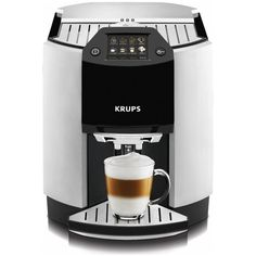 Krups Espresseria Barista EA9010 Bean to Cup Coffee Machine (4,780 ILS) ❤ liked on Polyvore featuring home, kitchen & dining, small appliances, programmable coffeemaker, coffee espresso cappuccino maker, krups coffee maker, krups espresso maker and espresso cappuccino machine
