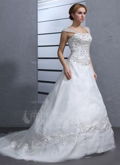 Wedding Dresses - $299.99 - Ball-Gown Sweetheart Chapel Train Organza Satin Wedding Dress With Embroidered Beading (002000545) http://hochzeitstore.com/Ball-gown-Sweetheart-Chapel-Train-Organza-Satin-Wedding-Dress-With-Embroidered-Beading-002000545-g545
