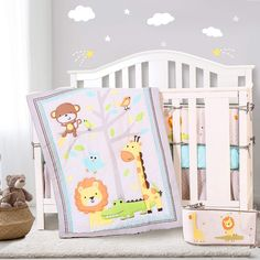 Amazon.com : Honkaii Crib Bedding Sets 7 Pcs for Boys Zoo Baby Bedding Set Include Comforter, Crib Fitted Sheet, Crib Skirt, Liner, Machine Washable, Nursery Bedding Sets for Boy&Girl(Gray) : Baby Nursery Bedding Sets, Crib Skirts, Boy Quilts, Cribs, Comforters, Toddler Bed, Gray, Amazon, Boys
