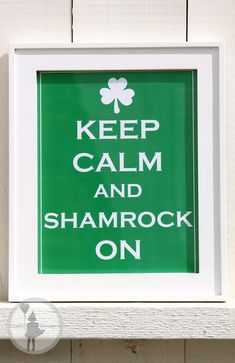 St Patrick's Day Keep Calm and Shamrock on sign by craftybouquets, $2.50
