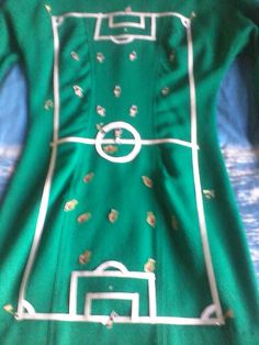 my carnival costume, I was a footbal pitch