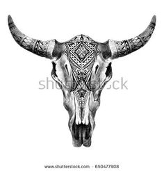 50 Trendy Cow Skull Tattoo Black And White Cow Skull Tattoos, Bull Tattoos, Taurus Tattoos, Indian Skull Tattoos, Longhorn Tattoo, Red Heart Tattoos, Black Tattoos, Bull Skulls, Tattoos