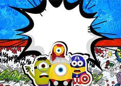 Minions super héroes imprimibles