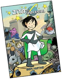 "An Asian girl super hero?!?  Not sure, but I'll go with the possibility if only because we need one so badly.  ""Zita the Spacegirl"" is a graphic novel for kids ages 9-13.  - Not Asian after all...but still worth checking out. http://www.bookpage.com/the-book-case/2011/03/16/a-character-whos-out-of-this-world/"
