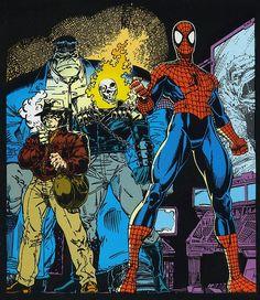 The New Fantastic FourHulk - Wolverine - Spider-Man - Ghost Rider byArt Adams