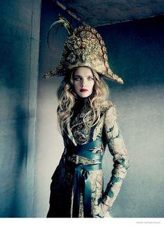 Natalia Vodianova Models Haute Couture for Paolo Roversi in Vogue Russia