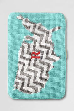 USA Map Needlepoint Kindle/Nook Case from Lands' End