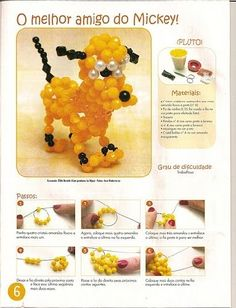 Pluto Dog (Mickey Mouse) beaded 3d PATTERN
