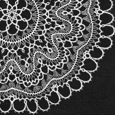 Doily in Hairpin Lace & Tatting Vintage Pattern for download 11 inches
