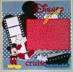 Disney Cruise 12x12 premade scrapbook layout page by ohioscrapper, $15.00