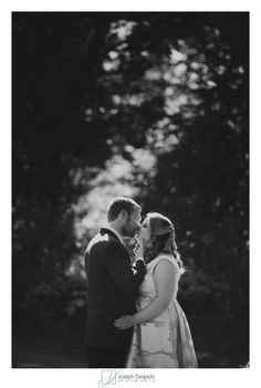 Elegant black and white wedding portrait in New Jersey.