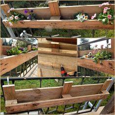 DIY Möbel aus Europaletten:So bauen Sie selbst einen Holz Blumenkasten