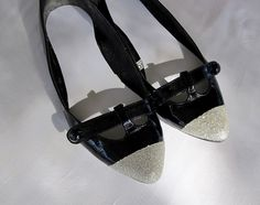 WobiSobi: Silver, Glitter Toe Shoes.