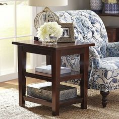 Torrance End Table - Mahogany Brown