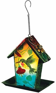 Charmant 30.00 Solar Hummingbird Lantern Bird Feeder Only $29.99 At Garden Fun   Solar  Lighting