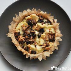 Brie al horno con setas caramelizadas y nueces - L'Exquisit