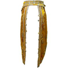 1920s Silk Skirt Yellow Goldenrod Flapper Burning Man Tribal Belly... ($909) ❤ liked on Polyvore featuring costumes, women's halloween costumes, angel costume, womens angel costume, womens indian halloween costumes and belly dancer costume