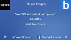 Latest hot-topic Coupon on Buxoff Visit to know more