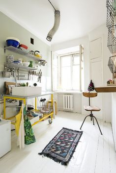 Beautiful Estonian Home tour filled with colorful textiles and vintage finds.
