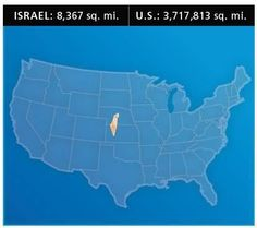 For a little perspective on Israel's size…