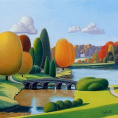 "Paul Corfield Untitled Study 91, bridge  - 8"" x 8"""