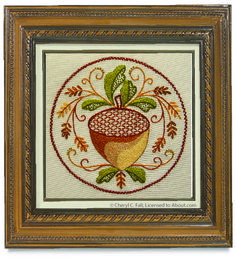 Fall Acorn Medallion Stitch Key: Fall Acorn Medallion Embroidery Pattern
