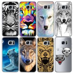 Animal Wolf Tiger Patterned Soft TPU Cover Phone Case for Samsung Galaxy 2016 Grand Prime Edge Note 3 4 5 Galaxy J5, Samsung Galaxy, Tier Wolf, Samsung Grand, Cool Phone Cases, Phone Accessories, Patterns, S7 Edge, Tigers