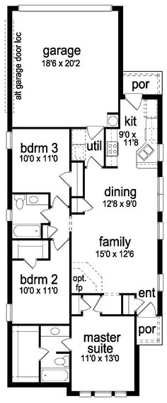 Narrow lot floor plans floor inc plannarrow lot house 4 plex plans narrow lot