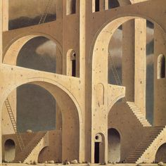 Paintings by Minoru Nomata Title: Herbert Rosendorfer Will 50 Watts Arcade Architecture, Architecture Design, Arte Popular, Brutalist, Concept Art, Contemporary Art, Illustration Art, Painting, Abstract