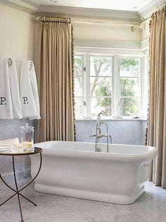 Metallic Panels Rods Window Refine Bathroom Coverings Windows Curtains Floor