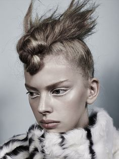 Jitte Oerlemans by Markus Ziegler. Beauty by Misha Shahzada. #fashion #beauty #hair #makeup