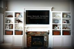 Fireplace+Designs+With+TV | Fireplace ideas