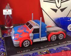 Optimus Prime cake - Chocolate Fudge