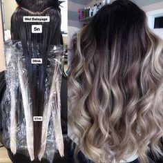 Balayage Ombré, Balayage Brunette, Redken Hair Color, Hair Color Formulas, Redken Color Formulas, Redken Hair Products, Balayage Technique, Hair Toner, Hair Color Techniques