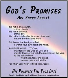 GOD THE OF PRAYING PROMISES