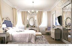 Дизайн интерьера бежевой неоклассической спальни - http://www.ok-interiordesign.ru/ph18_bedroom_interior_design.php