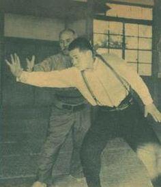 Morihei Ueshiba demonstrating Aikibudo in techniques...exactly the same as Lu in taijiquan.