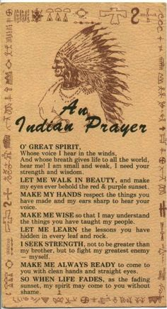 This prayer moves my soul. - Native American Great-Quotes | Native American Indian Wisdom - CarolineBakker.com