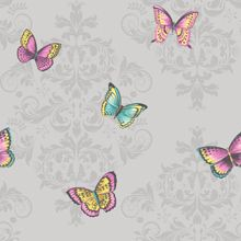 Glitter Butterfly - Teal : Wallpaper and wallcoverings from Holden Decor Ltd.