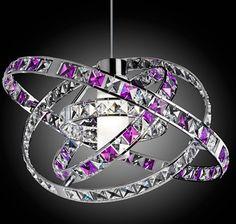 purple chandelier....wow