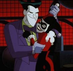 """Watch Mark Hamill and Tara Strong voice the Joker and Harley Quinn (clicky!) -  (picture featured from """"Beware the Creeper"""" episode ft Arleene Sorkin-the original Harley Quinn) This Made My Day! :)"""