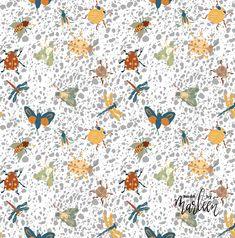 Pattern design bugs affinity designer Fabric Design, Pattern Design, Affinity Designer, Bugs, Home Decor, Beetles, Interior Design, Home Interior Design, Beetle