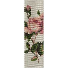 Vintage Rose 4 Peyote Bead Pattern, Bracelet Cuff, Bookmark, Seed Beading Pattern Miyuki Delica Size 11 Beads - PDF Instant Download